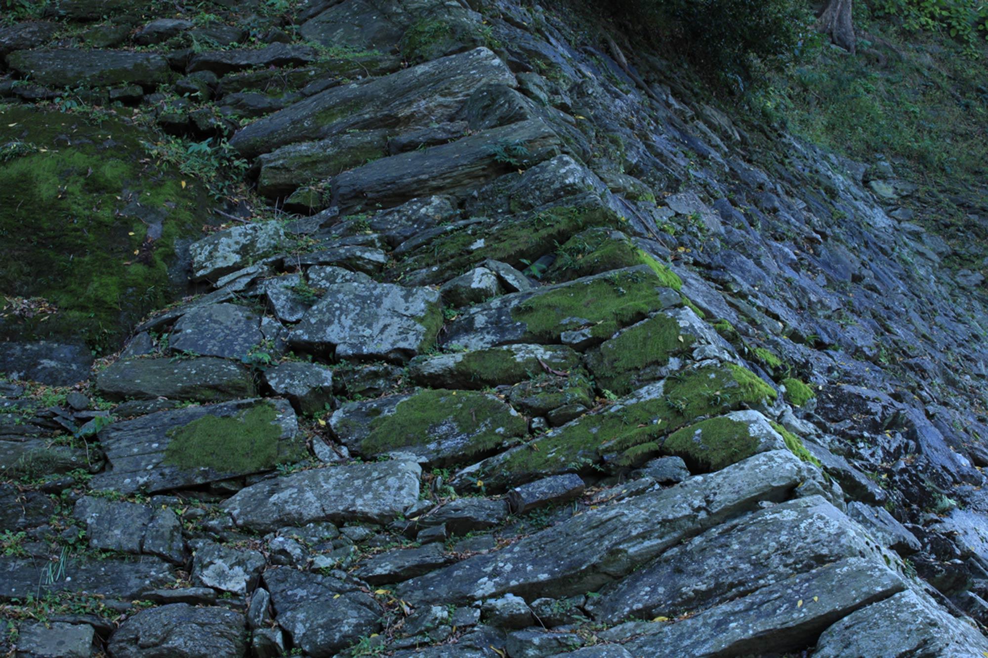 "Stone wall of Wakayama Castle ""Nozurazumi"" ©Motonori Takedaの写真"