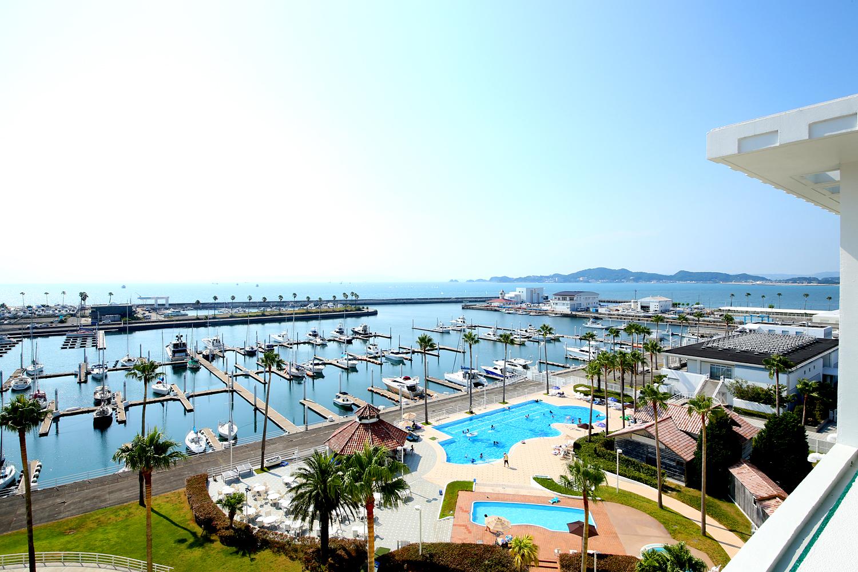 Wakayama Marina City Hotel, View from the hotel.の写真