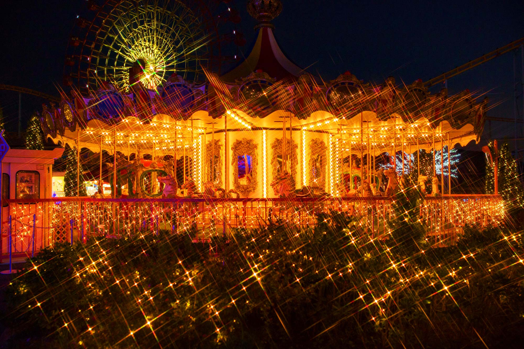 Amusement park of the lightの写真